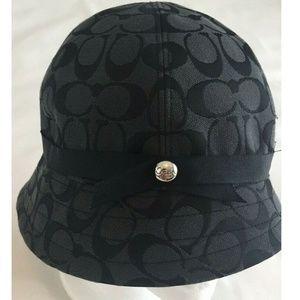 Coach Bucket Hat Black Gray Logo Womens Size P/S